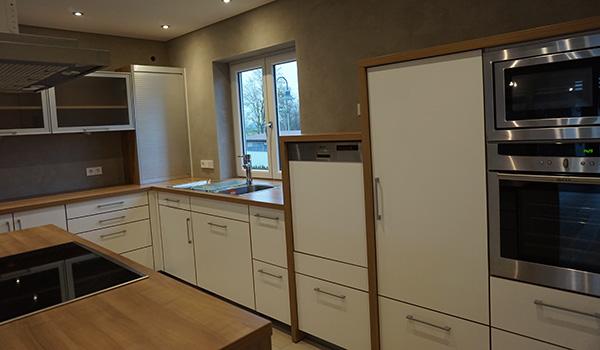 Moderne kuche mit melaminharzbeschichtung gewa die for Rolladenschrank küche